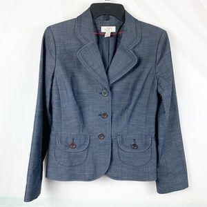 Ann Taylor LOFT | Blazer Blue 6 Petite